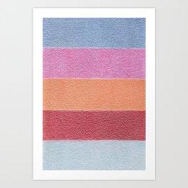 Painted Wall - Color Blocks / Color Palette No 5 Art Print