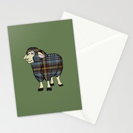 Faded Johnston Tartan Sheep Stationery Cards