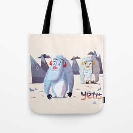 :::Happy Yetis::: Tote Bag