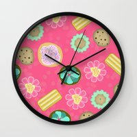 cookies Wall Clocks featuring Cookies by Party Peeps