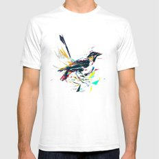 Little Bird White Mens Fitted Tee X-LARGE