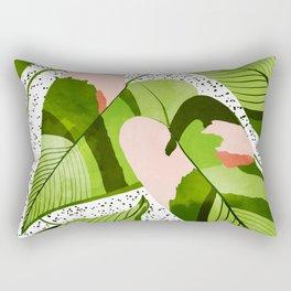 Blushing Leaves #illustration #painting Rectangular Pillow