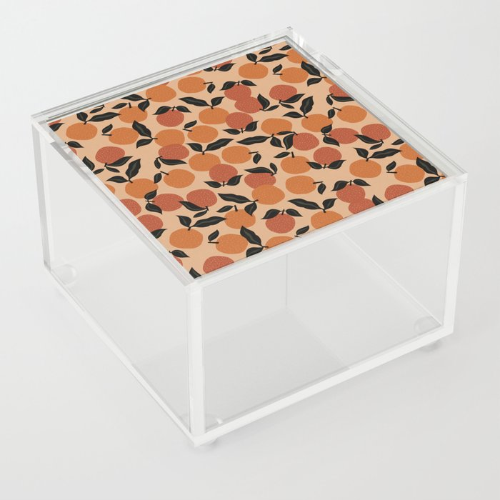 Seamless Citrus Pattern / Oranges Acrylic Box