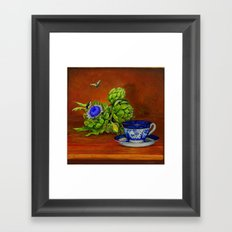 Teacup with Artichokes Framed Art Print