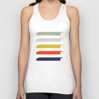 parks and rec Tank Tops featuring Rec Stripes by After Hours