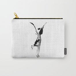 Black and white, minimalist, modern yoga pose illustration for yoga studio, yoga art, drawing, om Carry-All Pouch