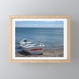 at the beach Framed Mini Art Print