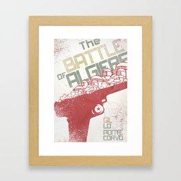 The Battle of Algiers, Gillo Pontecorvo, Italian film, alternative movie, wall art, Africa war Framed Art Print