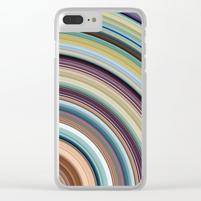 Colorful Planetary Rings Clear iPhone Case
