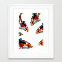 koi Framed Art Prints featuring Koi by James Peart
