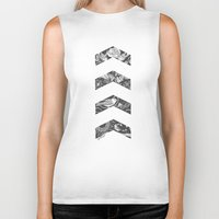 cyrilliart Biker Tanks featuring Liam's Chevrons by Cyrilliart