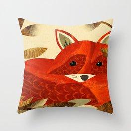 Autumnal Fox Throw Pillow