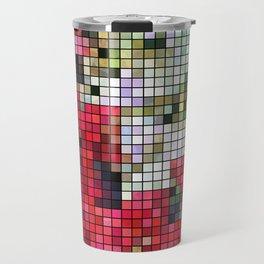Mixed color Poinsettias 1 Mosaic Travel Mug