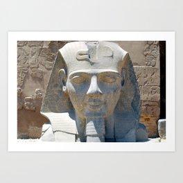 Head of Ramesses II, Luxor temple, Egypt Art Print