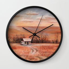 Hudson Cabin Pioneers Park Wall Clock