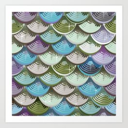 Fish scales | blue'n green Art Print