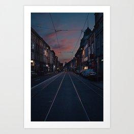 Dublin Upside Down Art Print