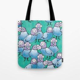 Pigeon Crowd Tote Bag