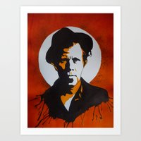 tom waits Art Prints featuring Tom Waits by will pacheco
