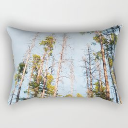 Big sky Country from the woods Rectangular Pillow