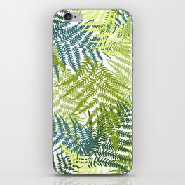 Fern frond seamless pattern iPhone Skin