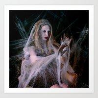 Widow of the web Art Print