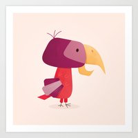 birdy Art Prints featuring Birdy by love you