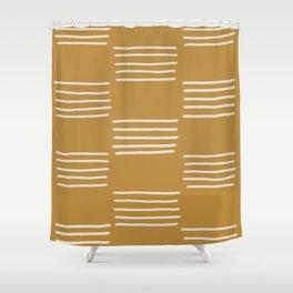 hatches –saffron Shower Curtain