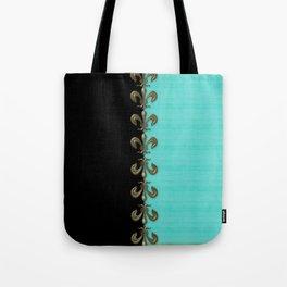 Turquoise Fleur-de-lis  Tote Bag
