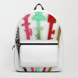 Vintage Las Vegas Swizzle Sticks Backpack