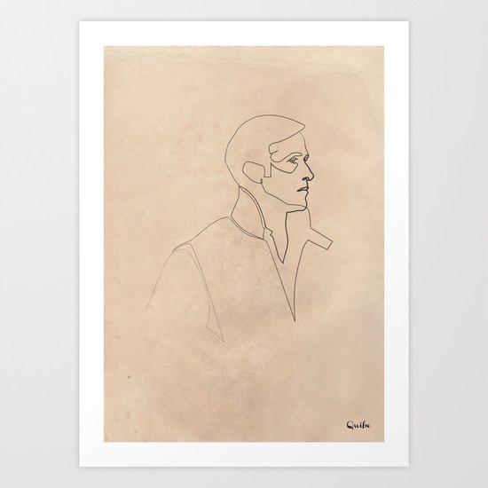 One line Drive (Ryan Gosling)  Art Print