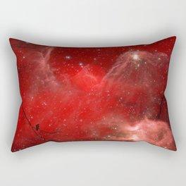 Electric Red Rectangular Pillow