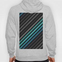 stripeS : Slate Gray Teal Blue Pixels Hoody