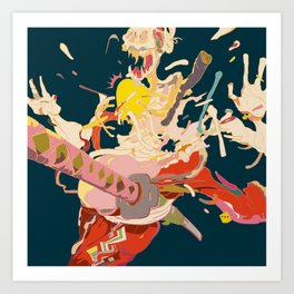 驚者髑髏 - GYOUSYA DOKURO Art Print