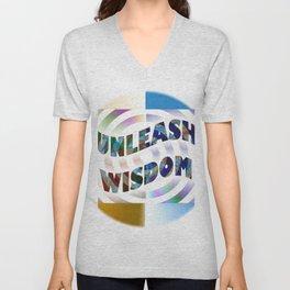 Unleash Wisdom Unisex V-Neck