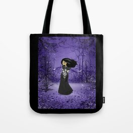 Lost in Thought - Dark Melancholy Girl Art Tote Bag