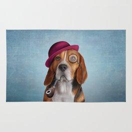 Drawing Dog Beagle Rug