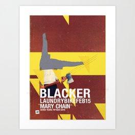 Mary Chain & Blacker band poster Art Print