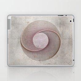 Geometrical Line Art Circle Distressed Rosegold Laptop & iPad Skin