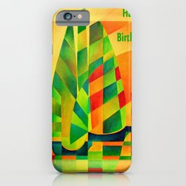Happy Birthday Chinese Junks, Sunset, Sails and Shadows iPhone Case