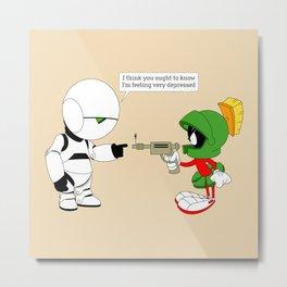 Marvin vs. Marvin Metal Print