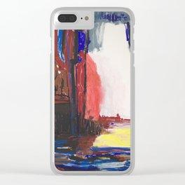 Dream blue Clear iPhone Case