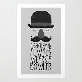 bowler hat Art Print