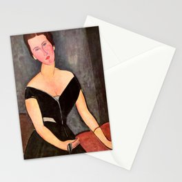 "Amedeo Modigliani ""Portrait of Madame Georges Van Muyden.jpg Stationery Cards"