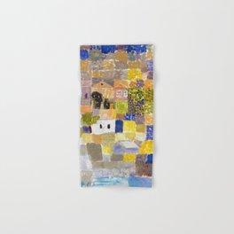 Sicilian Mediterranean Seaside Modern Landscape by Paul Klee Hand & Bath Towel