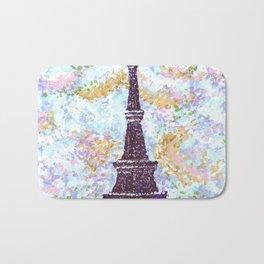 Eiffel Tower Pointillism by Kristie Hubler Bath Mat