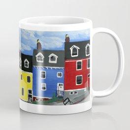Newfoundland Houses Canada acrylics on canvas Coffee Mug