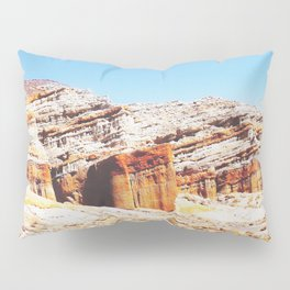 sand desert with orange mountain in California, USA with summer blue sky Pillow Sham
