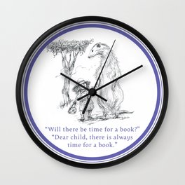 Time for a book Wall Clock