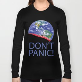 Don't Panic Red Electric Car and Starman Into Space Long Sleeve T-shirt